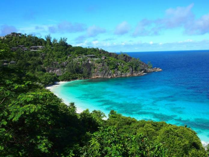 The location of the Four Seasons Seychelles